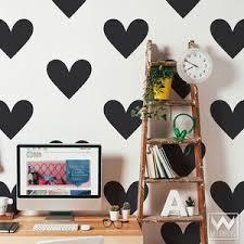 Big Heart Vinyl Wall Decal Large Peel And Stick Wall Art Shapes Wallternatives