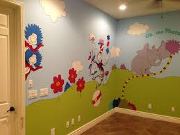Dr Seuss Playroom Any Kid Would Love This Room It S The Size Of A One Car Garage And His Playful Characte Kids Room Murals Dr Seuss Wall Art Baby Room Decor