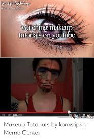 jusrlnsto watching makeup tutorials