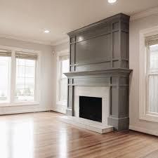 nice moldings around this fireplace