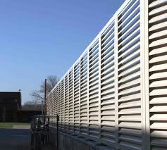 Louvered Fence Systems Gallery The American Fence Company