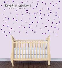 Amazon Com Purple Wall Decals Polka Dot Wall Confetti For Kids Bedroom Circle Wall Stickers Baby