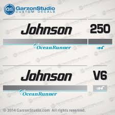 1995 1996 1997 1998 Johnson 250 Hp V6 Ocean Runner Decal Set Johnsondecals Com