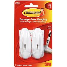 command medium white adhesive wire