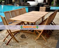 garden furniture sets teak large