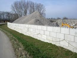 Boundary Walls Made Of Interlocking Concrete Lego Like Blocks