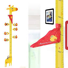 Ucmd Magnetic Kids Height Growth Chart Giraffe Wall Decal Ruler For Children S Room Wall Stickers 6