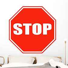 Amazon Com Wallmonkeys Stop Sign Wall Decal Peel And Stick Graphic 48 In H X 48 In W Wm333678 Furniture Decor