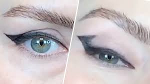 winged liner on hooded eyes