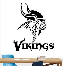 Amazon Com Wall Vinyl Decal Minnesota Vikings Logo Emblem Football Team Sport Interior Vinyl Decor Sticker Home Art Print Tt9639 Home Kitchen