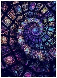 mandaladana spiral stained glass