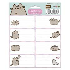 Pusheen The Cat Sticker Labels 2 X Sheets 16 Stickers Total