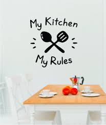My Kitchen My Rules Wall Decal Sticker Bedroom Room Art Vinyl Home Dec Boop Decals