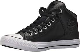 street leather high top sneaker
