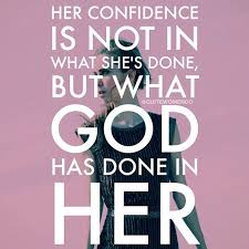 confidence in what god has done in her word of god