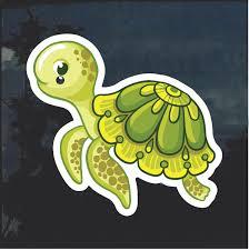 Cute Turtle Window Decal Sticker Custom Sticker Shop
