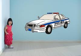 Car Art Police Car Wall Art Decal Sticker Let S Print Big