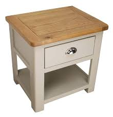 light oak side table with drawer tag