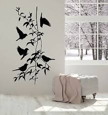 Vinyl Wall Decal Birds Branches Coolest Decor For Living Room Stickers Ig1185 753677077348 Ebay