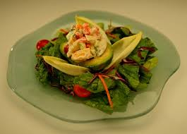 Lobster-stuffed avocado with champagne ...