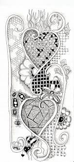 Hartjes With Images Zentangle Drawings Love Coloring Pages