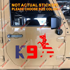 K9 K 9 Unit Police Dog American Usa Flag Decal Sticker German Shepherd Car Vinyl Car Stickers Aliexpress