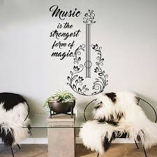 Guitar Wall Decals Quotes Decal Vinyl Stickers Music Decal Bedroom Decor Mn993 26 99 Picclick