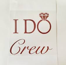 Iron On Transfers I Do Crew Htv T Shirt Transfers Hen Party Accessories Hen Party Stickers Hen Party Accessories T Shirt Transfers Iron On Transfer
