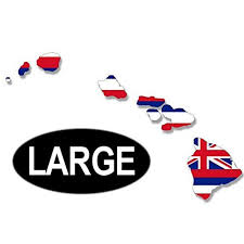 Large Hawaiian Islands Shaped Hawaii State Flag Sticker Decal For Car Window 7 X 11 Inch Walmart Com Walmart Com