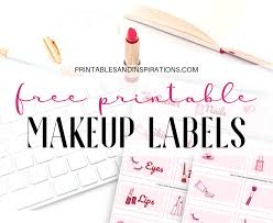 free makeup printable label stickers