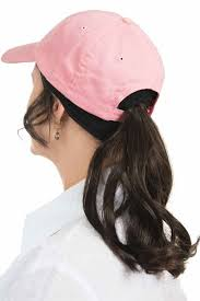 ponyl headband baseball hat with