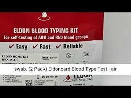 eldoncard blood type test reviews