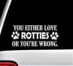 Rottie Lover Rottweiler Dog Paw Decal Sticker For Car Window Etsy Rottweiler Dog Dog Paws Rottie