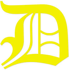 Amazon Com Applicable Pun Old English Letter D Vinyl Decal Outdoor Use On Cars Atv Boats Windows More Yellow 4 Inches Tall Automotive