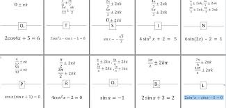 solving trig equations with special
