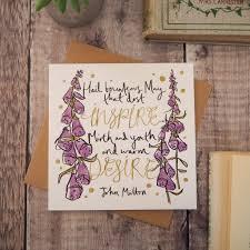 literary quote birthday card literary emporium