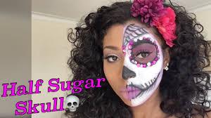 half sugar skull halloween day of the