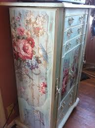 Floral Decals On Dresser Shabby Chic Furniture Shabby Chic Dresser Decoupage Furniture