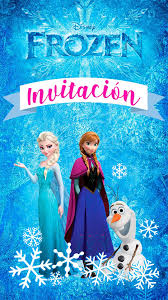 Tarjeta De Invitacion Animada De Frozen En 2020 Invitaciones