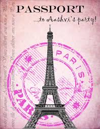 Party Invitations I Made For My Daughter S Paris Themed Party The