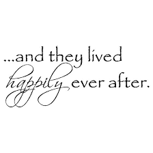 And They Lived Happily Ever After 4 Wall Words Vinyl Wall Art Decal Sticker