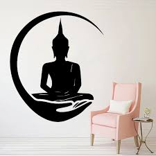 Wall Sticker For Shakya Muni Buddha Vinyl Decal For Living Room Decoration Wallpaper Wall Decals Big Buddha Wall Stickers Hq521 Wall Stickers Aliexpress
