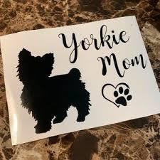 Other Yorkie Mom Dog Car Decal Heart Paw Sticker Decal Poshmark