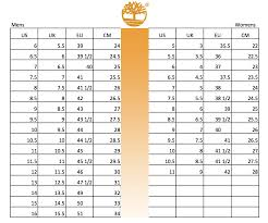 timberland shoes size conversion chart