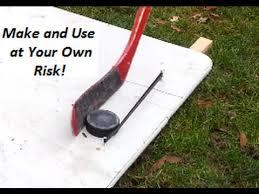 easy simple hockey puck rebounder