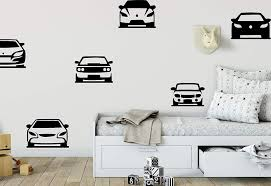 Amazon Com Cars Wall Decal Boys Room Multiple Cars Decal Sports Car Theme Room Cars Nursery Decor Muscle Car Decals Boys Nursery Vinyl Cars And Stick Wall Decals Home Kitchen