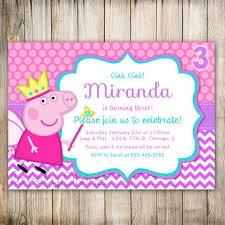 Peppa Pig Birthday Party Accessories Invitaciones De Cumpleanos