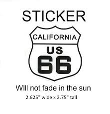 California Route 66 Sticker Ca Vinyl Decal Uv Protection Fade Resi Patch Parlor