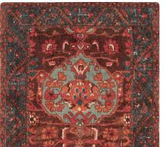 red aisha printed rug patterned rugs