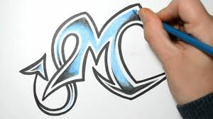 how to draw wild graffiti letters m
